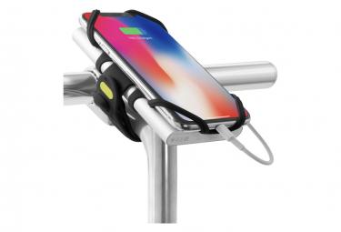 Bike Tie Pro Pack Black : support pour téléphone (écran 4 à 6.5 pouces) et batterie externe - fixation guidon ou tige de vélo - Noir