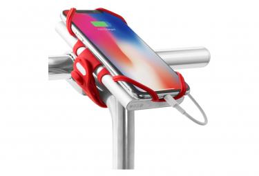 Bike Tie Pro Pack Red : support pour téléphone (écran 4 à 6.5 pouces) et batterie externe - fixation guidon ou tige de vélo - Rouge