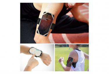 Run Tie L Black : Brassard pour téléphone (4 à 6.5)- fixation bras - L ⍉ 25-42 cm, Noir
