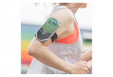 Run Tie S Gray : Brassard pour téléphone (4 à 6.5)- fixation bras - S ⍉ 20-30 cm, Gris Clair
