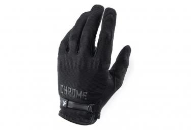 Long Chrome Cycling Gloves Gray / Black