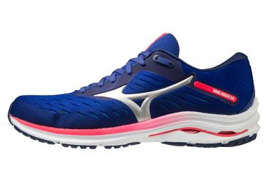 Chaussures de Running Mizuno Wave Rider 24 Bleu / Rose