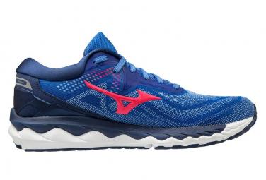 Zapatillas Mizuno Wave Sky 4 para Mujer Azul / Rosa