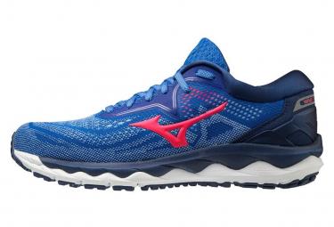 Chaussures de Running Femme Mizuno Wave Sky 4 Rose / Bleu / Rose