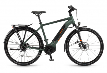 Bicicleta Híbrida Eléctrica Winora Yucatan i9 Men 700 Vert