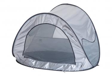 Image of Deryan tente de plage avec moustiquaire 120x90x80 cm argente