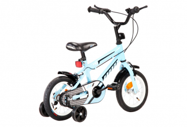 vidaXL Vélo pour enfants 12 pouces Noir et bleu