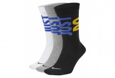 Chaussettes Nike Sportswear Just Do It Noir/Gris/Blanc