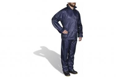 Image of Combinaison de pluie avec capuche 2 pieces bleu marine l