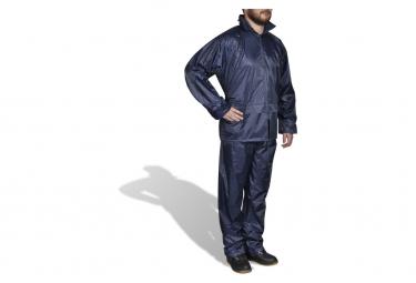 Image of Combinaison de pluie avec capuche 2 pieces bleu marine xxl