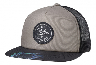 Casquette Noire Grise Globe  Expedition II Trucker