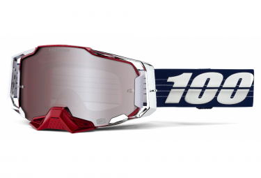 100% Armega Mask Limited Edition Loîc Bruni Blue / White Silver Mirror Screen