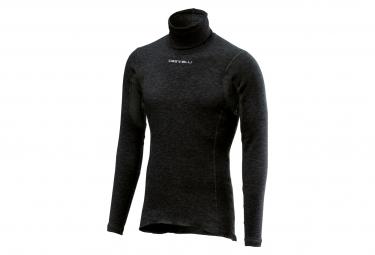Maglietta lunga scaldacollo calda Castelli Flanders nera