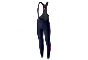 Castelli Velocissimo 4 Long Bib Shorts with Braces Dark Blue / Red
