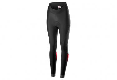 Pantaloncini con bretelle lunghi Castelli Velocissima da donna neri / rossi