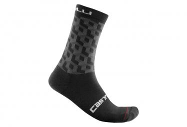 Paio di calzini Castelli Cubi 18 neri / grigi