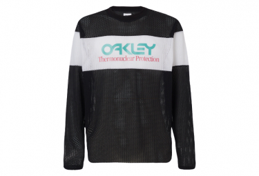 Oakley Tnp Fiery Stripe Camiseta De Manga Larga Gris   Blanco Xl