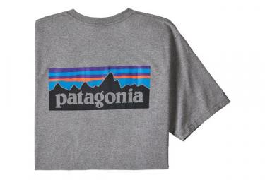 Camiseta Patagonia P 6 Logo Responsibili Tee Gris Hombres M