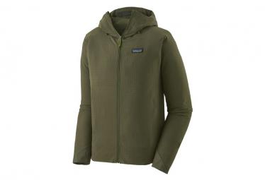 Chaqueta Softshell Patagonia R1 Techface Hoody Verde Hombres L