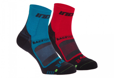 Inov-8 Race Elite Pro Socks x2 Red Blue Unisex
