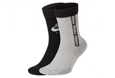 Nike Air SNKR Socks White Black
