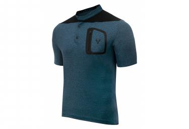 LeBram Parpaillon Kies Kurzarm Jersey Grau Benzin Blau Gerade geschnitten
