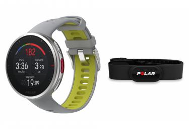 Polar Vantage V2 GPS Watch Silver Grey Lime + H10 HR Sensor