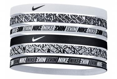 Mini Bandeaux Tête (x6) Nike Printed Noir Blanc Unisex