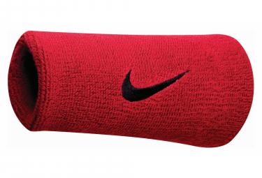 Bracelet éponge Nike Swoosh Doublewide Rouge Unisex