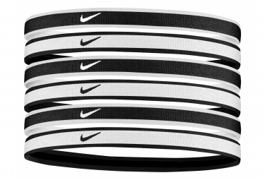 Mini Bandeaux Tête (x6) Nike Swoosh Sport 2.0 Blanc Noir Unisex