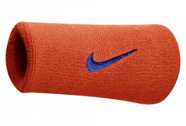 Bracelet éponge poignet Nike Swoosh Doublewide Orange Unisex