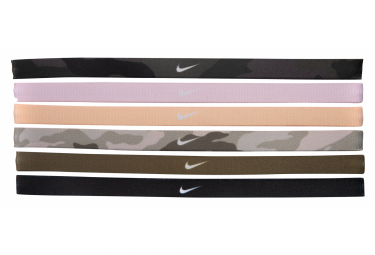 Nike Printed Mini Headband (x6) Multi Color Unisex