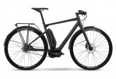 BMC Alpenchallenge AMP AL City Three Electric Fitness Bicicleta de ciudad Shimano Nexus 5S Cinturón 418 Wh 700 mm Stealth Gris Negro 2021