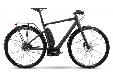 Vélo de Ville Électrique Fitness BMC Alpenchallenge AMP AL City Three Shimano Nexus 5V Courroie Gris / Noir 2021