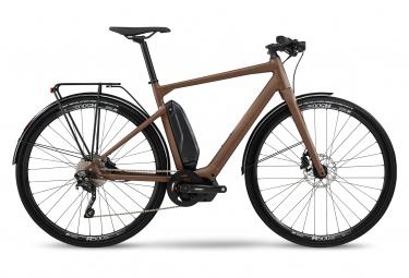 BMC Alpenchallenge AMP AL City Four Electric Fitness Bicicleta de ciudad Shimano Deore 10S 418 Wh 700 mm Tierra Marrón 2021