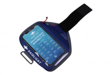 Fascia da braccio Raidlight per telefono XL blu / grigio