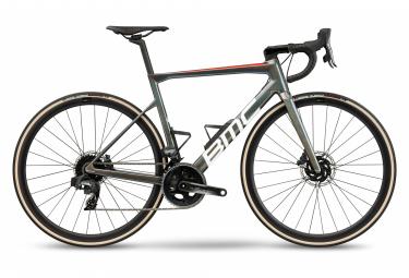 Bicicleta de carretera BMC Teammachine SLR One Sram Force eTap AXS 12S 700 mm Antracita Prisma Blanco 2021