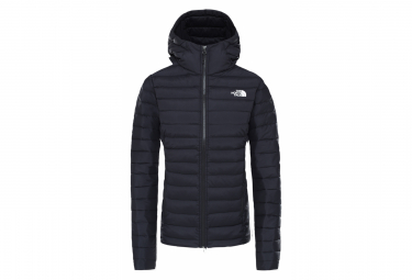 The North Face Stretch Down Hooded Jacket Nero Donna