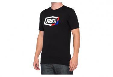 Camiseta 100% Rayas Manga Corta Negra