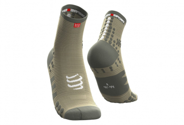 Pair of Compressport Pro Racing V3.0 Run High Socks Green