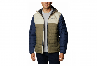 Doudoune Columbia Powder Lite Hooded Jacket Vert Bleu