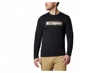 T-shirt a maniche lunghe con grafica Columbia Lookout Point Nera