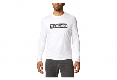 T-shirt Columbia Lookout Point Graphic manica lunga Bianca