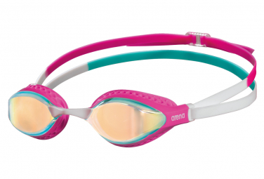 Swimming goggles Arena AIR-SPEED MIRROR YELLOW COPPER PINK MULTI