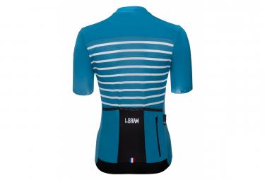 Maillot Manches Courtes Femme LeBram Ventoux Bleu Saphir Coupe Ajustée
