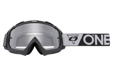Masque O'Neal B-10 Speedmetal Noir / Gris / Ecran Transparent