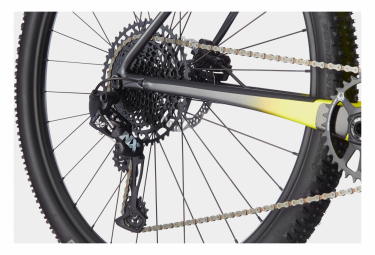 VTT Semi-Rigide Cannondale F-Si Carbon 5 Sram NX / SX Eagle 12V 29'' Jaune Highlighter Noir