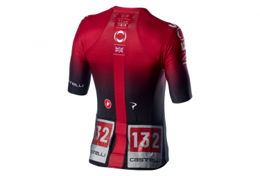 Maillot Manches Courtes Castelli Aero Race 6.1 Ineos 2020 Rouge
