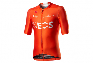 Maillot Manches Courtes Castelli Aero Race 6.0 Ineos 2020 Orange