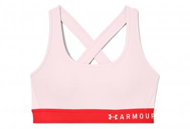 Sujetador deportivo Under Armour Mid Crossback rosa mujer